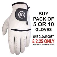 SG Men white All Weather Golf Gloves cabretta Leather palm patch & thumb S-XXL