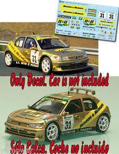 Decal 1:43 Lorenzo Raya - PEUGEOT 306 MAXI  - Rally El Corte Ingles 1997