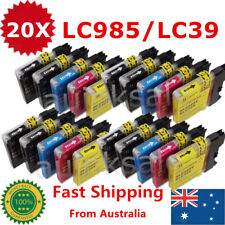 20 Ink Cartridge LC39 LC985 for Brother DCP J515W J315w J125 MFC J220 J265w J415