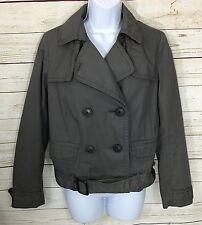 Gap Gray Peacoat/Motorcycle Style Jacket Size S