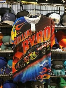 William Byron Sublimated Axalta Flames Dry Fit T-Shirt New with Tags