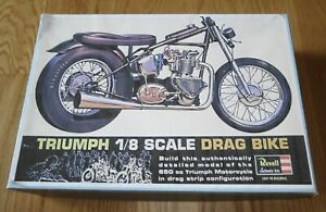 Revell Triumph 1/8 Scale Drag Bike started incomplete