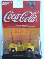 COCA-COLA 1:64 M2 Machines 1956 Ford F-100 Truck YR02