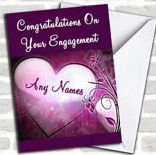 Tarjeta de compromiso Personalizado Corazón Púrpura
