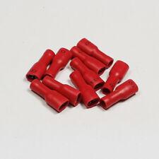 10 x 4.8mm entièrement isolé rouge female spade terminal connecteur crimp terminals