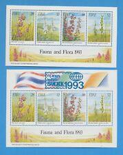 IRELAND - scott 894a & 894b - VFMNH S/S - Orchid Flowers, Bangkok 1993 Stamp Sho