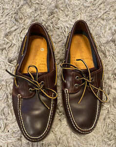 Timberland deck shoes mens size 9 in brown leather