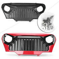 Front Gladiator Grill Grille W/Mesh for 1997-2006 Jeep Wrangler TJ Red New