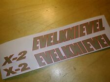 """EVEL KNIEVEL"" CANYON  X2 SKY CYCLE STICKERS"