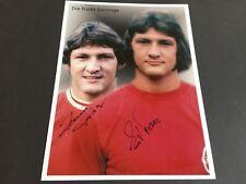 TRASER-ZWILLINGE Heinz & Ernst Offenbacher Kickers 1971-1974 signed Foto 20x27