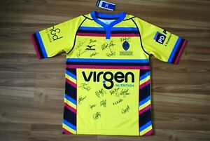 ALL PLAYERS SIGNED DARLINGTON MOWDEN PARK RFC RUGBY SHIRT JERSEY ENGLAND SMALL