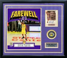 Kobe Bryant Final Game Photo & Autographed Card Framed & Matted Lakers Collage