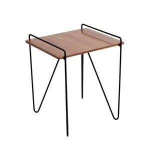 LumiSource Loft End Table, Walnut, Black - TBE-LOFTWL-BK