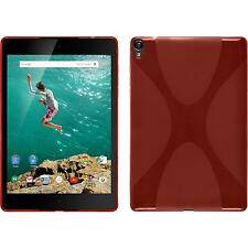Silicone Case for Google HTC Nexus 9 X-Style red + protective foils