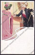 LEOPOLDO METLICOVITZ 26 TOSCA PUCCINI MUSICA OPERA LIRICA Cartolina 1900 viagg.