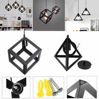 Vintage Industrial Style Metal Easy Fit Cage Ceiling Pendant Light Lamp Shade UK