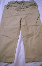 BNWT Jojo Maman Bebe cropped trousers stone size 8 maternity 98% cotton