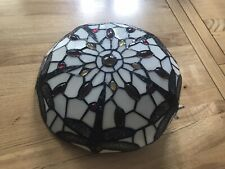 Traditional Style Multi Coloured Stained Glass Flush Ceiling Light Fitting Home