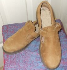 """Rockport Size 10 Tan Suede Buckle Up Mary Jane Super Comfy 2"""" Heel Women's Shoes"""