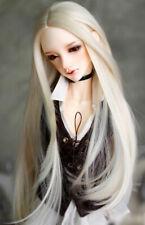 "1/3 8-9-10"" Pullip Bjd Doll Hair Wig Long Mellow Blonde Roll Inward Layer Skill"