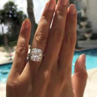 3.00 Ctw Cushion-Cut Diamond VVS1 D Halo Engagement Ring 14k White Gold Over