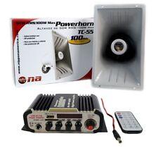 100W Indoor Outdoor PA Power Horn Speaker 80W with HiFi Amplifier w  Bluetooth