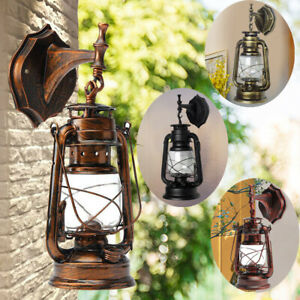 Retro Antike Vintage Laterne Lampe Wandleuchte Leuchte Garten Licht Außen Licht