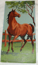 vintage 1960s paint by number horse 6 by 12