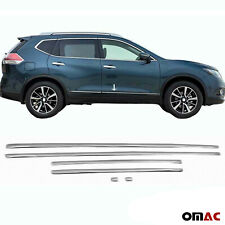 Fits Nissan Rogue 2014-2020 Chrome Plated PVC Side Door Streamer Trim Cover 6Pcs