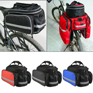 Bike Bicycle Seat Rear Bag Waterproof Pannier Rack Pack Shoulder Cycling Pouchs