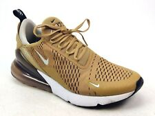 MENS NIKE AIR MAX 270 GOLD RUNNING ACTIVE VINTAGE GYM SPORTS TRAINERS UK SIZE 10