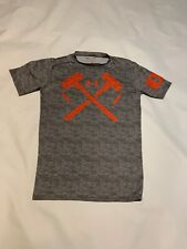 Under Armour Mens Heather Gray Ua Combine Short Sleeve Compression Shirt Large