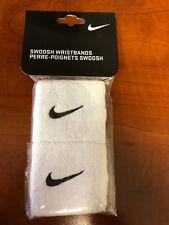 Nike Swoosh Wristbands with Black Swoosh