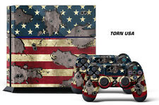 Skin Sticker for PS4 System Playstation 4 Console +2 Controller Decals USA TORN