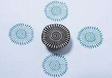 UNIQUE HAND CARVED WOODEN CHAKRA DESIGN TEXTILE PAPER CLAY STAMP 074 - 1 PC