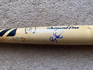 Bradley Zimmer Rookie Signed Game Used Baseball Bat Cleveland Indians MLB 🌟