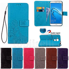 Flip Printed PU Leather Card Pocket Slot Stand Case Cover Lot Protection Bumper
