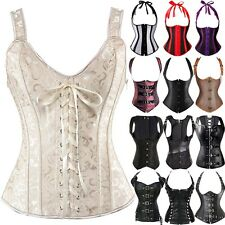 64352cf8147 Gothic Overbust Steampunk Corset Bustier Lace Up Waist Cincher Shapewear  Top S6