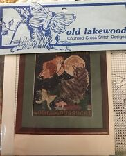 Vintage X Stitch Pattern: OLD LAKEWOOD THE OWL AND THE PUSSYCAT 7 3/16X8 5/8""