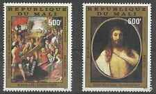 Timbres Religion Paques Arts Tableaux Mali PA416/7 * lot 1708