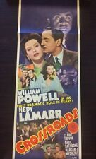 1942 CROSSROADS ORIGINAL POSTER 14x36 WIlliam Powell Hedy Lamar Basil Rathbone.