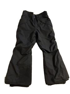 Patagonia H2No Lined Black Snow Ski Snowboard Pants Medium Size 10 Kids