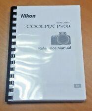 NIKON COOLPIX P900 CAMERA PRINTED USER MANUAL GUIDE HANDBOOK 242 PAGES A5