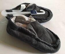 NWT Boys GAP Kids Sz 1-2 Gray Moccasin Slippers