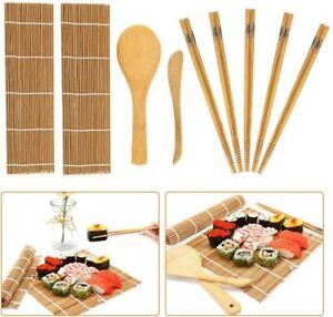 Kit completo per fare sushi, Set con tappetini in bambù bacchette e spatole riso