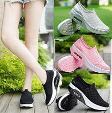 Women Mesh Sport Gym Shoes Platform Runing Trainers Shape Ups Fitness