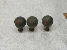 3 Vintage Brass Finials Toppers