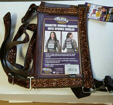 Weaver Leather Exhibitor Number Harness w/copper Sparkle Overlay M/L Adult