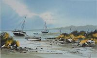 Stéphane Lauro: Marea Baja de Verano - Litografía Original Firmada #250ex