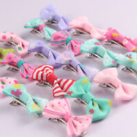10x Glitter Sequin Bowknot Kids Handcraft Hair Clips Hairpin Jewelry Making Lot